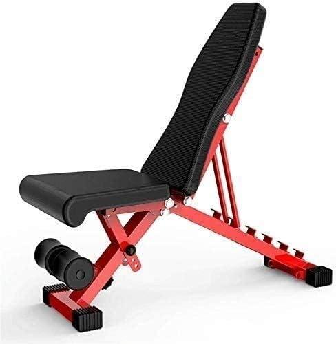 家庭用ダンベルベンチ 調整可能なシーティングベンチ 腹部筋肉の折りたたみ スポーツ補助具多機能腹部ベンチ 腹筋用腹部ベンチ