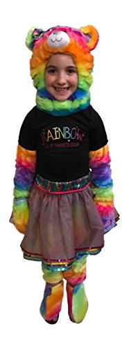 Rainbow Bear Halloween Costume 6 Piece Build A Bear Workshop Size XS 4 4T