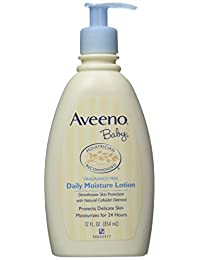 Aveeno Baby Daily Moisture Lotion, Fragrance Free, 12 Ounce (Pack of 2) BOBEBE Online Baby Store From New York to Miami and Los Angeles