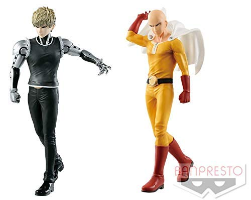 Banpresto One Punch Man DXF Saitama Premium Figure & Genos One-Punch Man Set of 2 Figure Statue (Statue Figure Set)