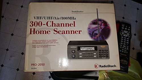 Realistic PRO-2050 VHF/UHF/AIR/800 Mhz TrunkTracker Scanner 300 Channel Home Scanner