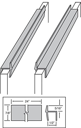 anging File Rail For 1/2 Drawer Sides 2 Feet Long Black (SOLD IN PAIRS) (File Cabinet Drawer Slides)