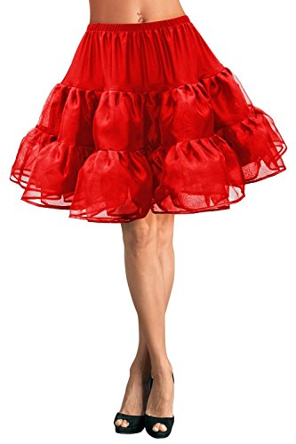 Butmoon Women's 50s Vintage Rockabilly Petticoat Short Tutu Skirt Underskirt