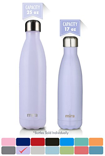 17 Oz Beverage Bottle (MIRA Stainless Steel Vacuum Insulated Water Bottle | Leak-proof Double Walled Cola Shape Bottle | Keeps Drinks Cold for 24 hours & Hot for 12 hours (Lavender Violet, 17 oz (500 ml, 0.53 qt)))