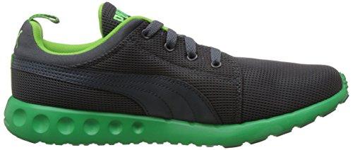 Puma Carson Runner - zapatillas deportivas de material sintético unisex gris - Grau (06 turbulence-fluo green)