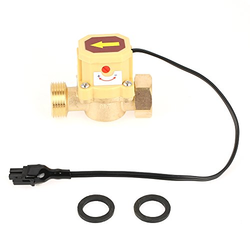 1pc Brass Pump Pressure Magnetic Water Flow Control Sensor Switch for Shower Low Water Pressure Solar Heater Water Circulation,G 3/4 Female Male Thread 0.6 Mpa