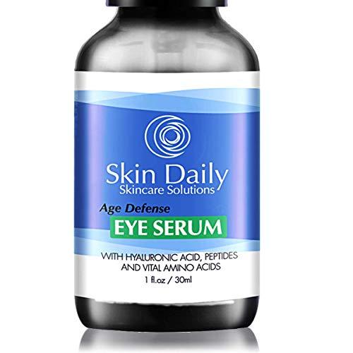 Skin Daily Eye Serum - Powerful Amino Acids, Peptides, Hyaluronic Acid, Cucumber Water, Jojoba Oil - 1 oz