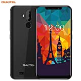 OUKITEL Smartphones Unlocked , Android 8.1 Unlocked Cell Phone with Dual Sim Sensitive Face and Fingerprint Unlock 8+5MP Dual Camera 16GB + 2GB RAM 3300mAh Battery (International Version) (Black)