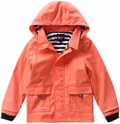 357414e86 M2C Boys & Girls Hooded Waterproof Rain Jacket Cotton Lined Windbreaker