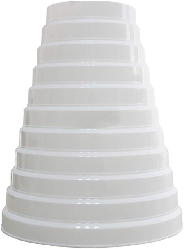 Gtagain Hardware Herramientas Plástico Redondo Accesorios Conducto Tubo Reductor - Multi Anillo Reductor Extractor Ventilador Ventilación Manguera Conector Adaptador 100mm-200mm Blanco
