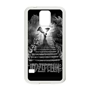 Samsung Galaxy S5 Cell Phone Case White Led Zeppelin Stairway To Heaven Ikska