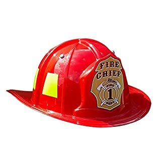 Aeromax Jr. Firefighter Helmet, Red, Adjustable Youth Size