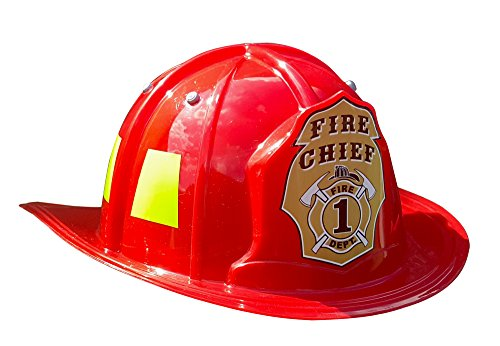 Woman Fire Costumes (Aeromax Jr. Firefighter Helmet, Red, Adjustable Youth)