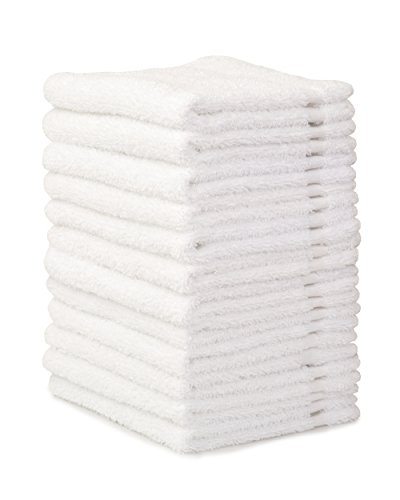 Alurri Washcloth Towel Set, 12-Pack, Extra Soft Cotton Fingertip Towels, Highly Absorbent, Machine Washable, 13'' x 13'' Mini Multi-purpose, Ideal for Gym, Spa, Face Cleansing, House cleaning. (White) by Alurri (Image #2)