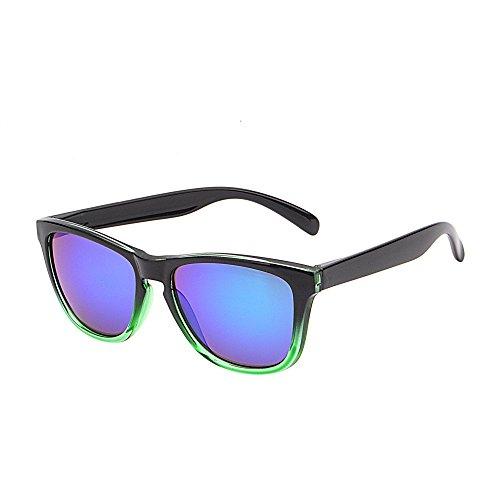 Reflective Wayfarer Sunglasses Original Lightweight Gradient Green Frame (Flash Green New Wayfarer)