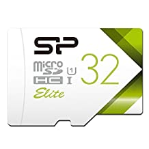 Silicon Power 32GB Up to 85MB/S Microsdhc UHS-1 Class10, Elite Flash memory Card (SP032GBSTHBU1V20BS)