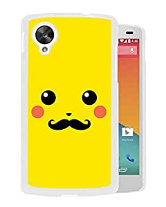 Pokemon Popular Cute and Funny Pikachu 25 White Google Nexus 5 Phone Case Fashion and Durable Custom Designed