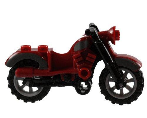 Lego Indiana Jones Motorcycle - LEGO Motorcycle Dark Red - Harley