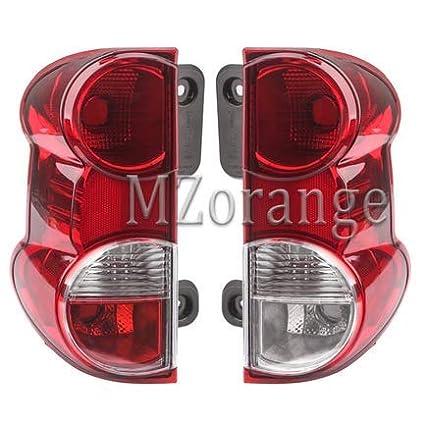 left/&right MZORANGE Rear Tail Lights Outside Lamp for NV200 2008-2015 Tail Rear brake light Rear warning lamp Cover Car Style