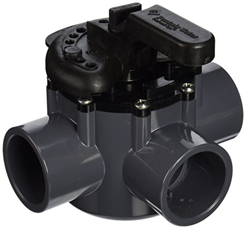 Pentair 263037 3-Way PVC 1-1/2 inch (2 inch slip outside) Pool And Spa Diverter Valve (Pvc Spa)