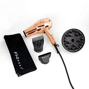FHI HEAT Platform Nano Lite Pro 1900 Turbo Tourmaline Ceramic Hair Dryer, Rose Gold, Chrome Edition