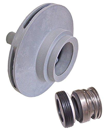 Vico Ultima Impeller (Vico Balboa Pump Impeller 1HP Ultima, Ultra Flo - Black w/ Shaft Seal Assembly)