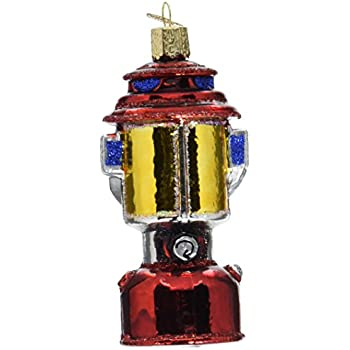 Amazon.com: Old World Christmas Ornaments: Camping Lantern Glass ...