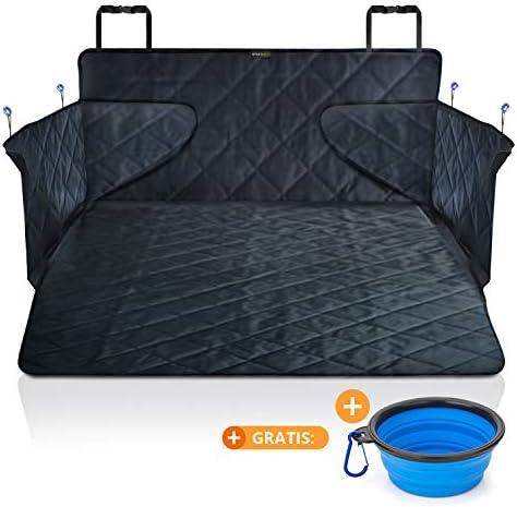 smartpeas Kofferraumdecke für Hunde XXL – Kofferraumschutz für jedes Auto fängt Nässe, Schmutz & Haare – Robuste Hundedecke mit Seitenschutz 185 * 105 * 36 cm