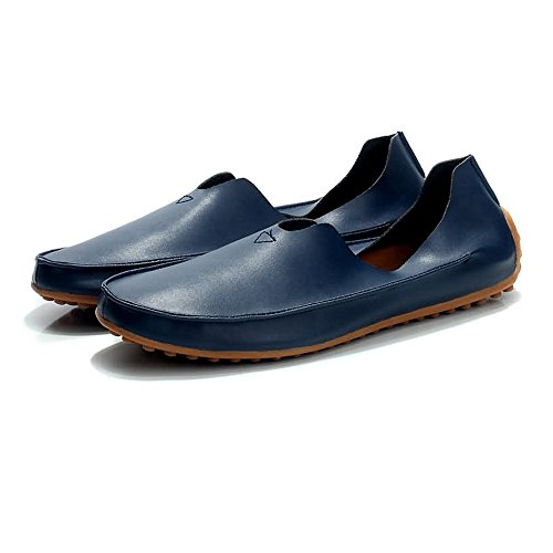 traspiranti Wind Xiazhi Mocassini EU shoes barca Blu Dimensione Large Men Loafer Size Mocassini Minimalism Super Color Casual Leather da Fibre 45 R7RAWXpr