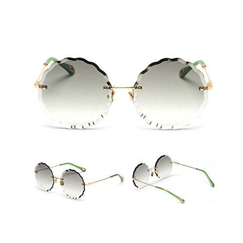 Z Wave Redondo Gafas Style Ocean Color Lace Ropa para Gradual Star Cordless Sunglasses amp;HA Color Accesorios Grey Gafas Lentes Lentes Caramelo Chicas Jóvenes De Green Change Gradient r71arAn