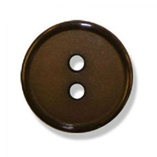 Top Rim Narrow - Impex 2 Hole Flat Top Narrow Rim Buttons Brown - per button
