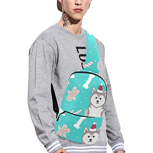 (Sling Shoulder Bag Fashion Husky Pet Cartoon Cute Dog Crossbody Bag Daily Sports Climbing Or Multi-purpose Backpack Men Women Ladies Teens)