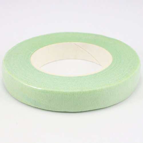 30 yards/roll 1.1cm(1/2'') Wide Paper Floral Tapes Bouquet Stem Wrap florist Accessories (Light green)