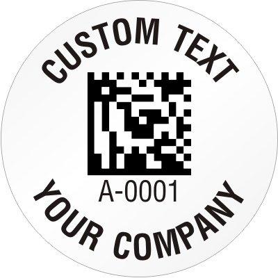 Amazon Com Custom 2d Barcode Label Template 0 75 Circle Gloss
