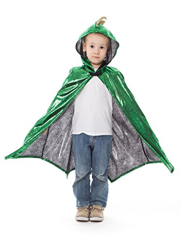 Little Adventures Deluxe Childrens Dragon Cloak Cape Age 3-8 -