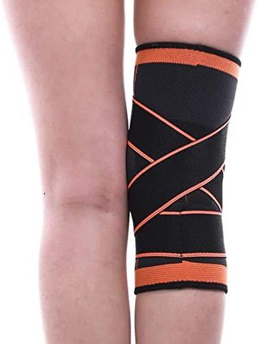 LilyAngel ニットの動き膝の圧力のサイクリングバスケットボールのフィットネスの通気性のある巻き上げ装置のメンテナンス1個 (Color : オレンジ, サイズ : XL)