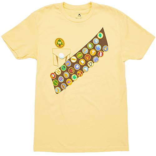 Up Russel Boy Scout Costume Adult T-Shirt - Yellow (Small)]()