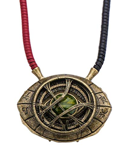 Marvel Doctor Strange Eye of Agamotto Replica Necklace | Officially Licensed Marvel Collectible Prop | Premium Quality Movie Replicas | Superhero Accessory Perfect For Cosplay, Costumes, -