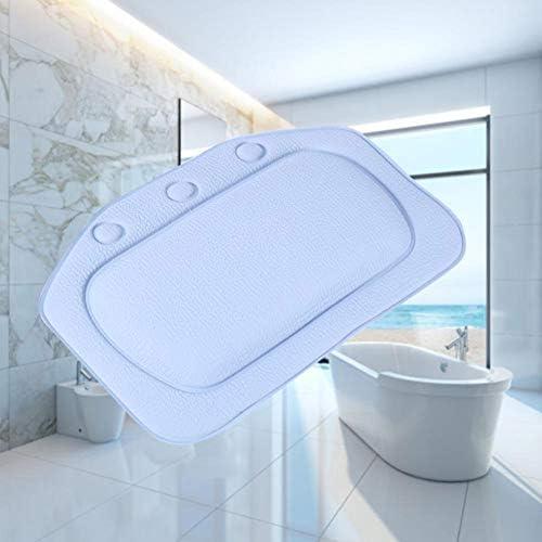 WJP Bath Pillow Almohada de baño Blanca de Confort portátil con ...