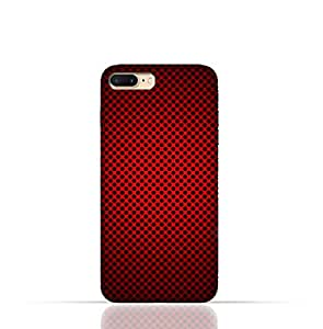 iPhone 8 TPU Silicone Case With Abstract Red With Black Dots Pattern Design