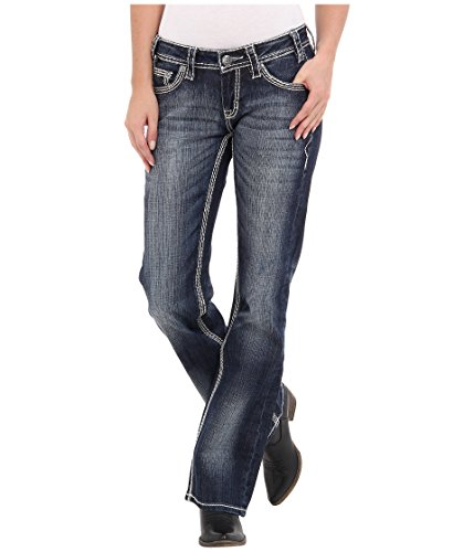Rock and Roll Cowgirl Women's Riding Boot Cut in Dark Vintage Dark Vintage 30 -