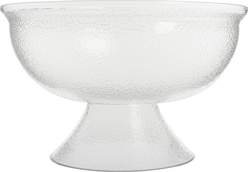 Carlisle SP1807 Acrylic Pebbled Punch Bowl, 16-qt. Capacity, 17.75'' Diameter x 10.63'' Overall Height x 6.5'' Depth, Clear by Carlisle (Image #3)