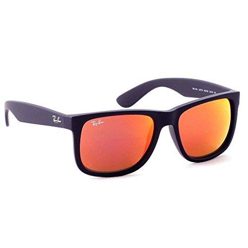 RayBan RB4165 622/6Q Rubber Black/Brown Mirror Orange Size 54 mm Sunglasses -  Ray-Ban