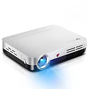 WOWOTO Videoproyectores, 2000Lumen 1280x800 Resolución Proyector de vídeo HD, Android 4.4 OS, Proyector LED con Keystone, HDMI, WIFI & Bluetooth