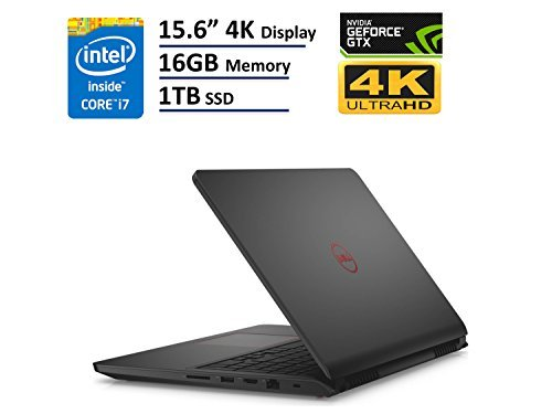 "Dell Inspiron 7000 i7559 15.6"" UHD (3840x2160) 4K Touchscreen Gaming Laptop: Intel Quad-Core i7-6700HQ, 16GB RAM, 1TB SSD, NVIDIA GTX 960M 4GB, Backlit Keyboard, Windows 10"