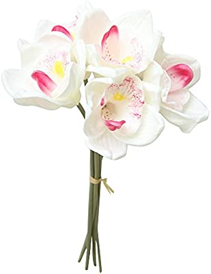 Botrong Fake Flowers Orchid Floral Wedding Bouquet Bridal