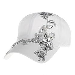 Cotton Campagne Flower Pattern Baseball Cap
