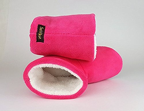 Microwaveable Booties Heated Slipper Snookiz Women Pink for 47qCpdpw