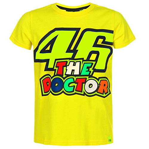 VR46 Valentino Rossi Kids 46 The Doctor T-Shirt Childrens Junior Ages 1 to - Doctor Juniors T-shirt