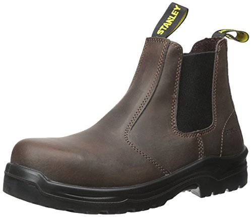 Construction Work Boot (Stanley Men's Dredge Steel Toe Work Boot, Brown, 8 D US)